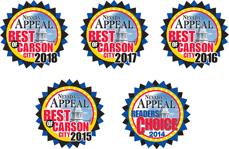 Voted Nevada Appeal's Best of Carson City 5 Years in a Row!